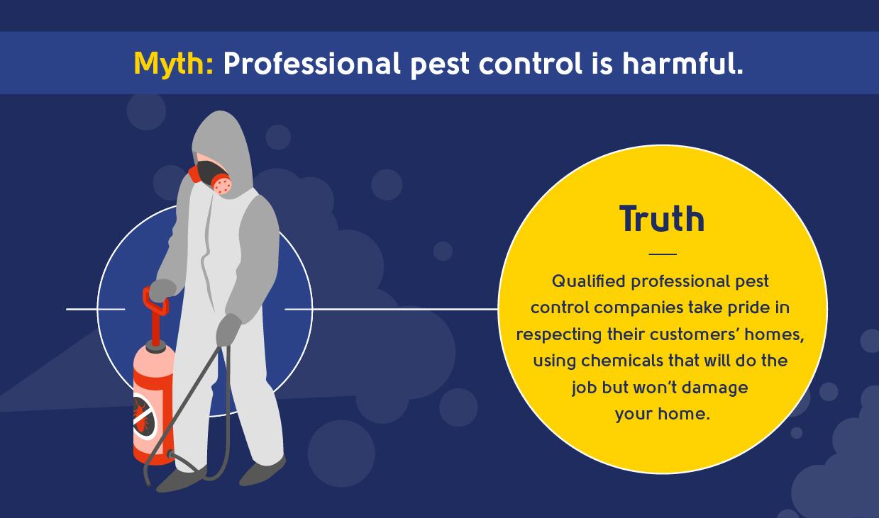 myth - professional pest control is harmful